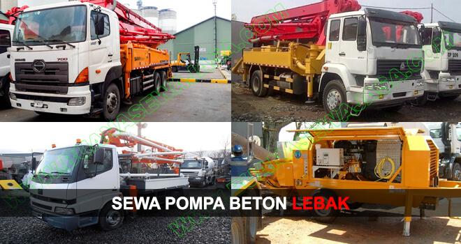 SEWA POMPA BETON | RENTAL CONCRETE PUMP | LEBAK